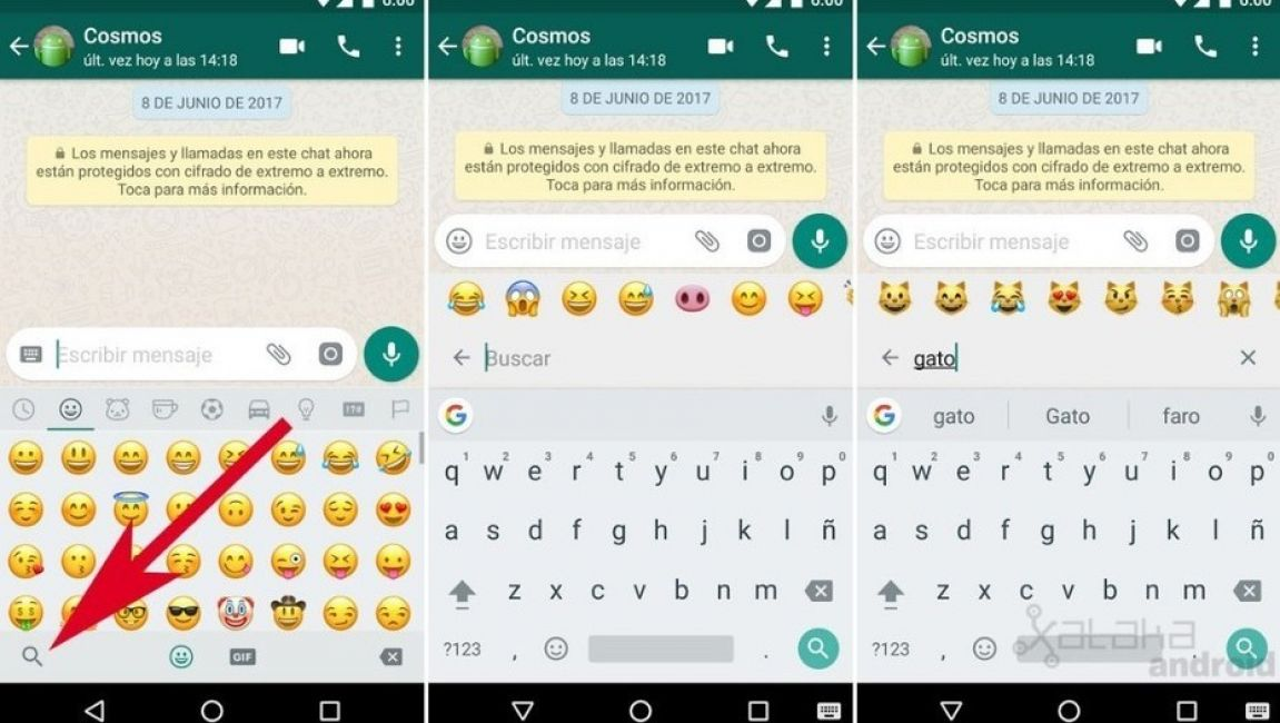 WhatsApp ahora tiene un buscador de emojis