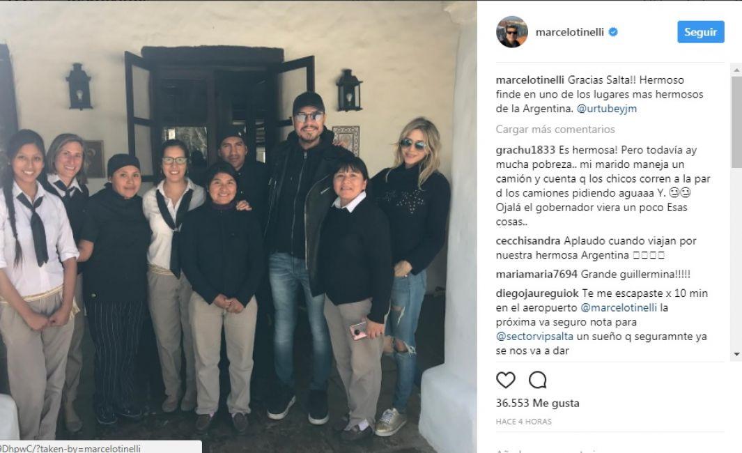 Tinelli visitó Salta durante el fin de semana largo