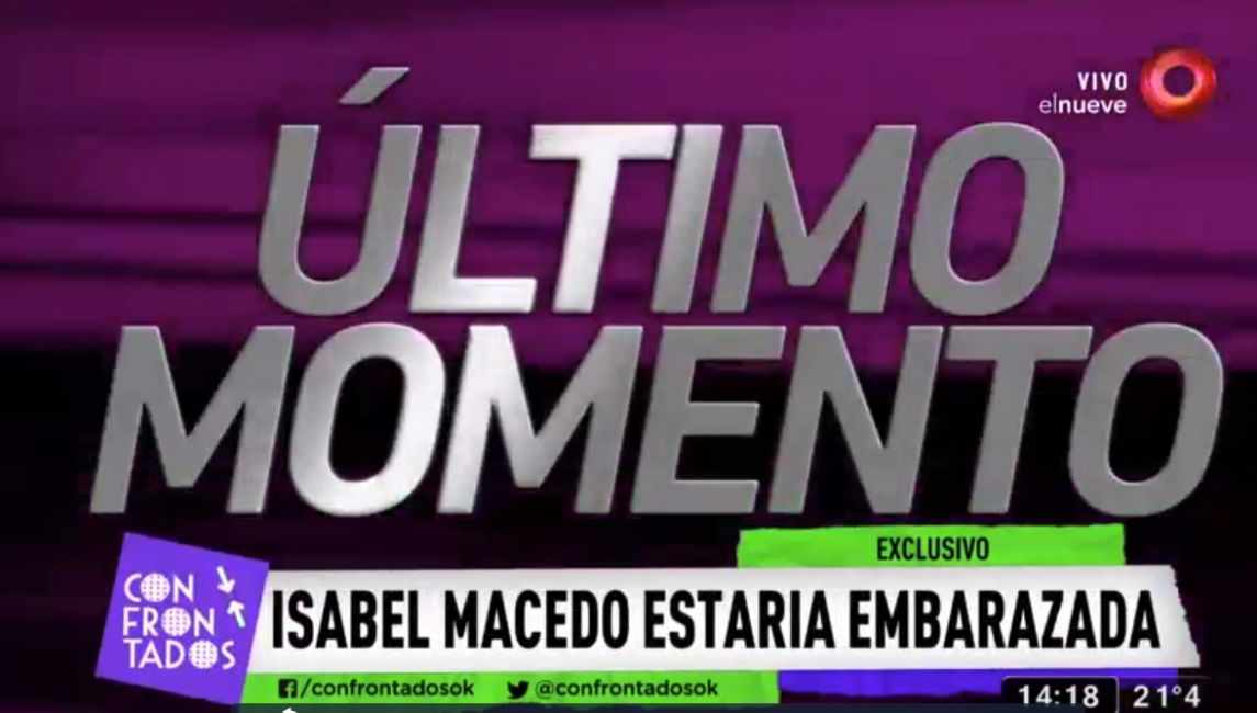 Urtubey desmintió los rumores de embarazo de Isabel Macedo