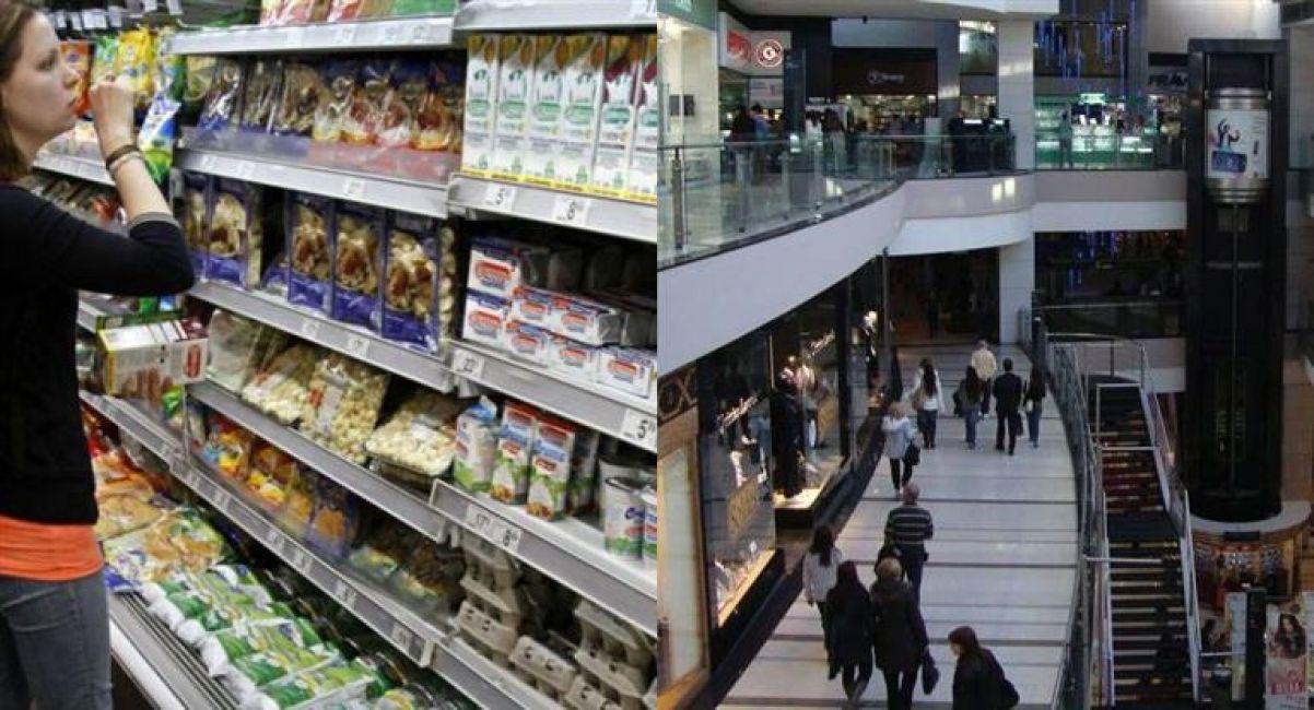 Las ventas en supermercados y shoppings se recuperan, pero débilmente