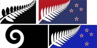 Las cuatro finalistas para convertirse en la nueva bandera de Nueva Zelanda