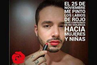 Proponen que los hombres pinten sus labios contra la violencia de género