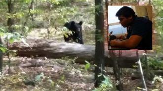 Le saca una foto al oso que después lo atacó y se lo comió vivo