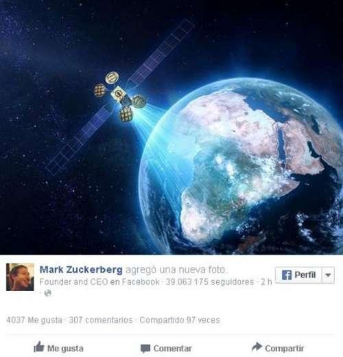 Mark Zuckerberg reveló su proyecto para proveer internet desde el espacio