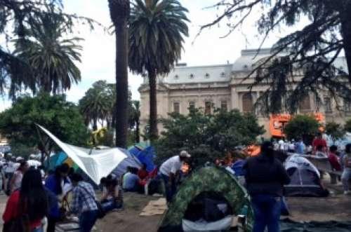 Levantaron el acampe frente a la Casa de Gobierno de Jujuy