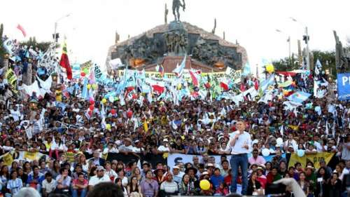 Primera cadena nacional de Macri en Jujuy con Massa y Urtubey