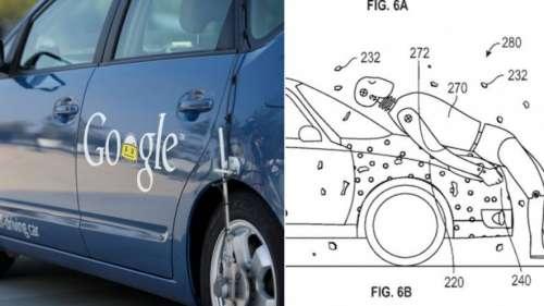 La extraña patente de Google para evitar daños en los accidentes de sus coches