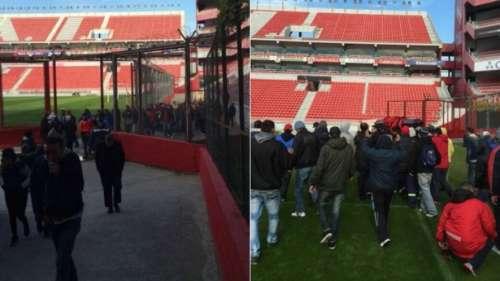 Velaron a un barra en la cancha de Independiente