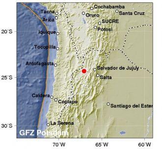 Fuerte sismo entre Salta y Jujuy