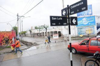 El lunes estaría liberado el tránsito en calle Catamarca