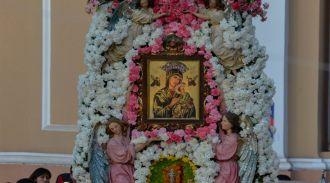 Honran a la Virgen del Perpetuo Socorro